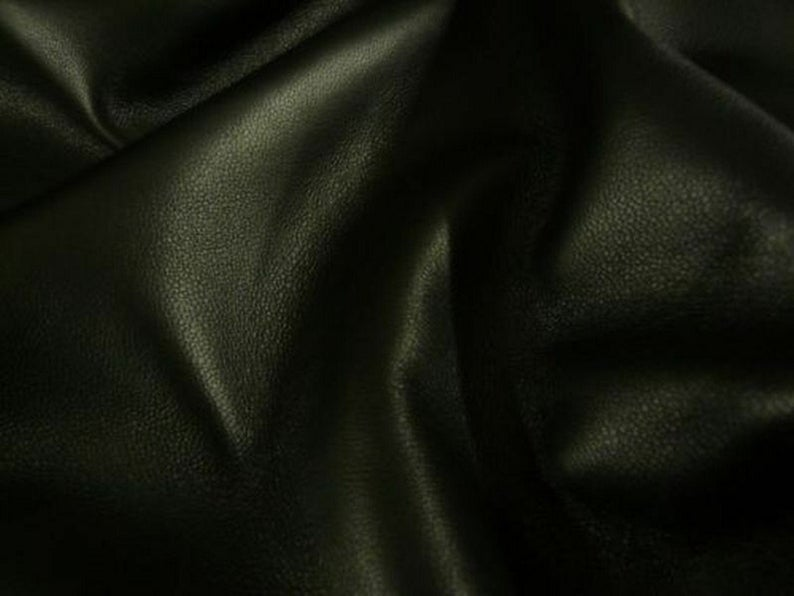 NOORA BLACK GARMENT Lambskin sheep leather hide skin hides nappa Smooth and Shiny Black Leather 5 SqFt WA63