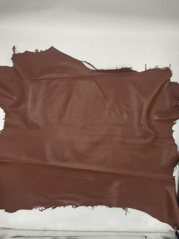 NOORA Lambskin Leather hide skin Reddish Maroon Sheep Nappa Leather 5+ SqFt WA60