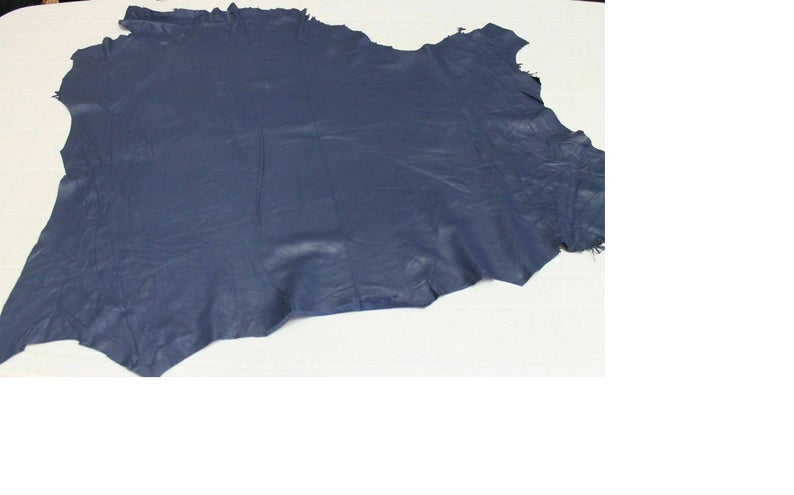 NOORA Leather King CATALINA NAVY Blue full grain Pebbled Buttery Soft Cowhide Full hides too Cowhide Steel Blue, 5+sqf WA52