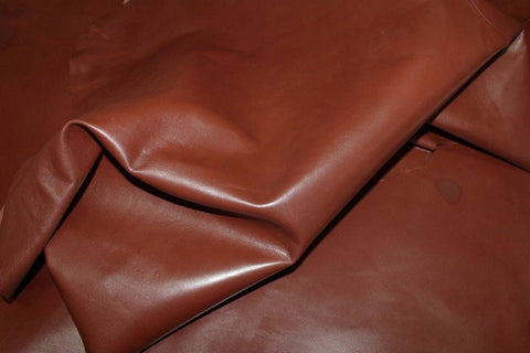 NOORA BROWN ANTIQUED Shiny vegetable tan Lambskin Lamb sheep leather skin skins hide hides 5 SqFt WA51