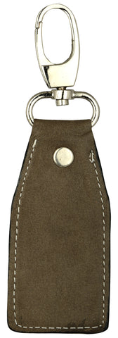 Light brown leather key chain