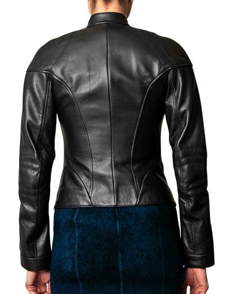 Women's Black fitted zipper jacket