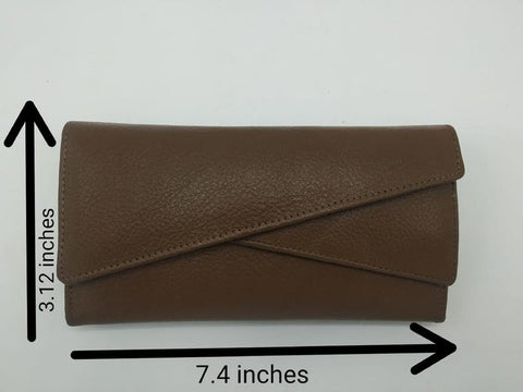 NOORA Leather Clutch Alem clutch Handmade Ethiopia Carry Fairtrade Top grain leather Leather Wristlet Various Colors 3 fold Clutch -SJ267