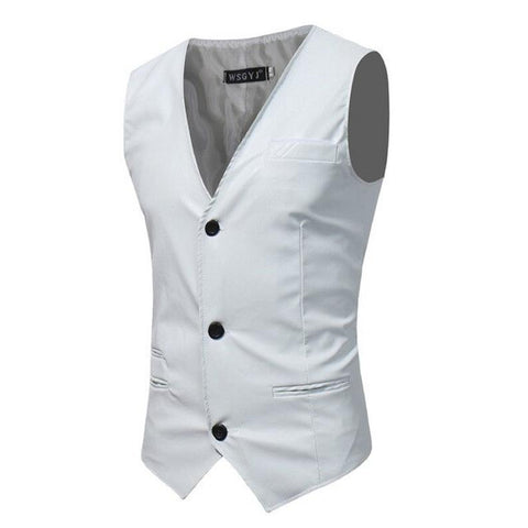 NOORA Classic Vest For Men Formal Attire Business Sleeveless Waist Coat Blazer Suit Comfort Fit SJ152