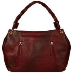 burgundy colour hobo bag