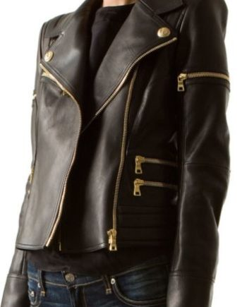Women's Edgy Black Leather Jacket