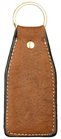 Brown leather key chain