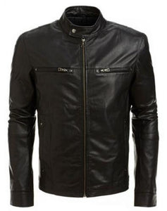 men's black biker leather jacket - Noora International