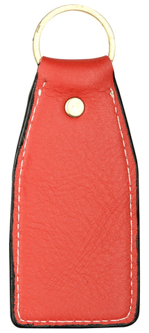 Orangish red leather key chain