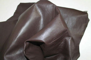 NOORA Deep Chocolate Brown Leather Lambskin Hides Distressed Mountain Brown Sheepskin Leather Hide upholstery Finish Leather 5 SqFt
