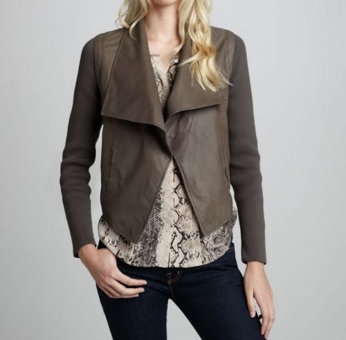 women's brown leather jacket - Noora International