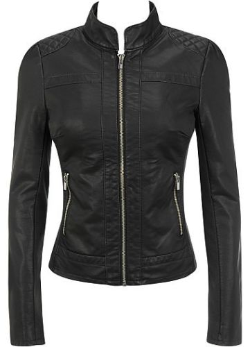 Women's Classic fitted Black leather jacket