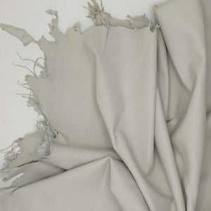 NOORA ICE WHITE off white Lambskin Lamb Sheep leather material for sewing hide skin skins hides 5+ SqFt WA81
