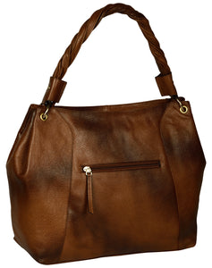 brown baguette bag