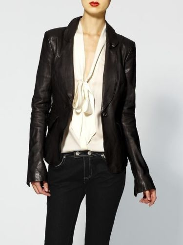 Women's Brown Blazer leather jacket