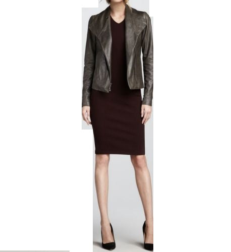 Women's Grey Biker Jacket - Noora International