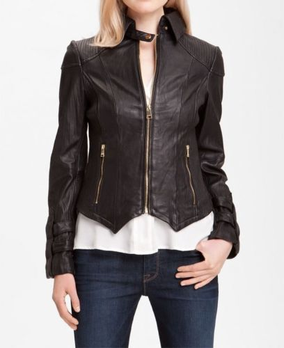 Women's Fitted Brown leather jacket