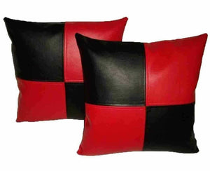 NOORA Genuine Leather Pillow red black cover Luxury Leather Cushion Leather cover Butterfly Leather Chess Pillow Leather Throw Pillow SJ349