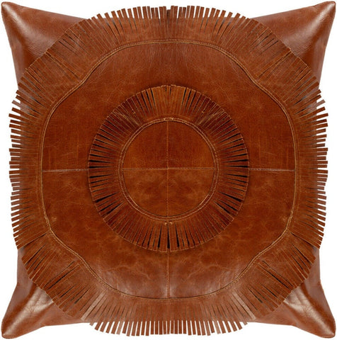 NOORA Lambskin leather Surya pillow cover Burnt Orange,Plain Square Leather Pillow Cover Housewarming Gift, Halloween, SB74