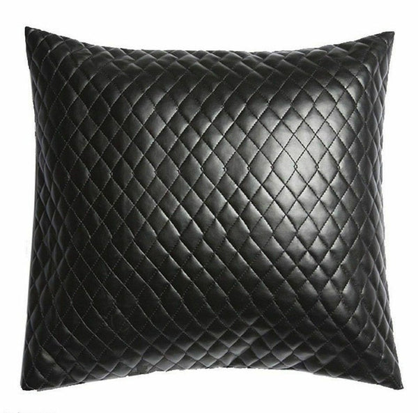 NOORA Leather Black Pillow Cover Decorative For Couch Throw Pillow Handmade Cushion Cover Genuine Soft Lambskin Leather Pillow Cover SJ343