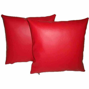 NOORA Premium Grade Red Leather Pillow Cover,Square throw pillow Cover,Decor Home,Wedding Gift, 100% Crunch leather , xoxo pillow Cover SJ8