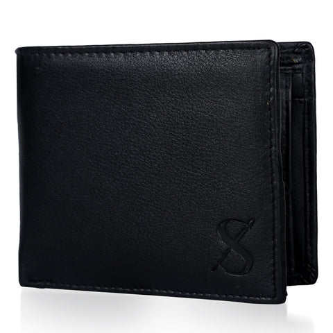 Stylish Men's Black Leather Wallet