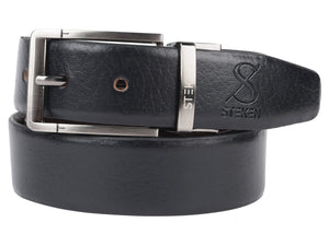 Stylish Men's Black Leather Belt
