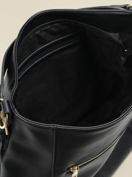 Women Stylish Black Leather Handbag