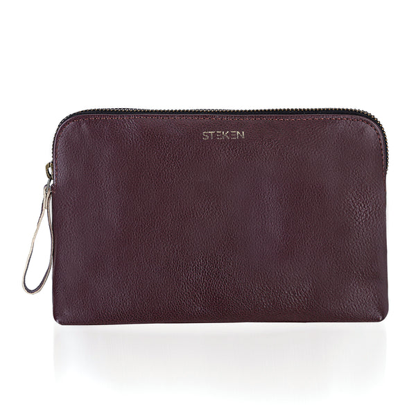 Stylish Brown Leather Travel Pouch