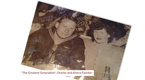 """The Greatest Generation"", Charles and Alvera Faucher"