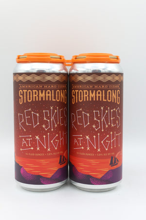 Stormalong Red Skies At Night 16oz 4pk