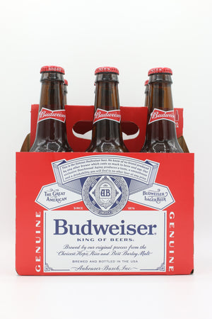 BUD 12OZ 6PK BOTTLES