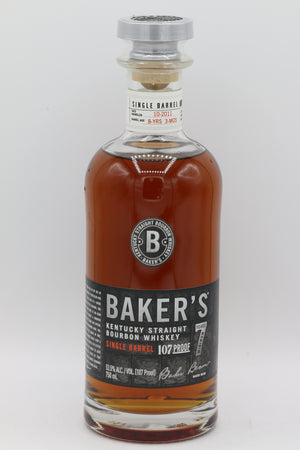 BAKER'S 107° SINGLE BARREL BOURBON 7YR 750ML