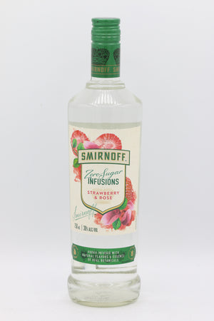 Smirnoff Zero Strawberry & Rose 750mL
