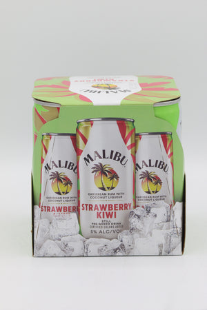 Malibu Strawberry Kiwi 4pk Cans