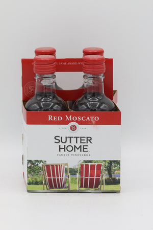 SUTTER HOME RED MOSCATO 187ML 4PK