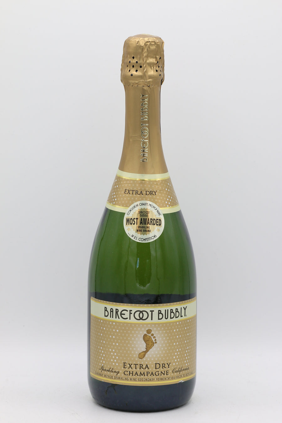 BAREFOOT BUBBLY EXTRA DRY CHAMPAGNE 750ML