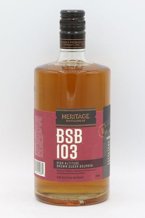 HERITAGE BROWN SUGAR BOURBON 103° 750ML