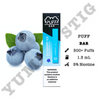 Puff Bar Blueberry Ice Disposable Device - yummystig.com