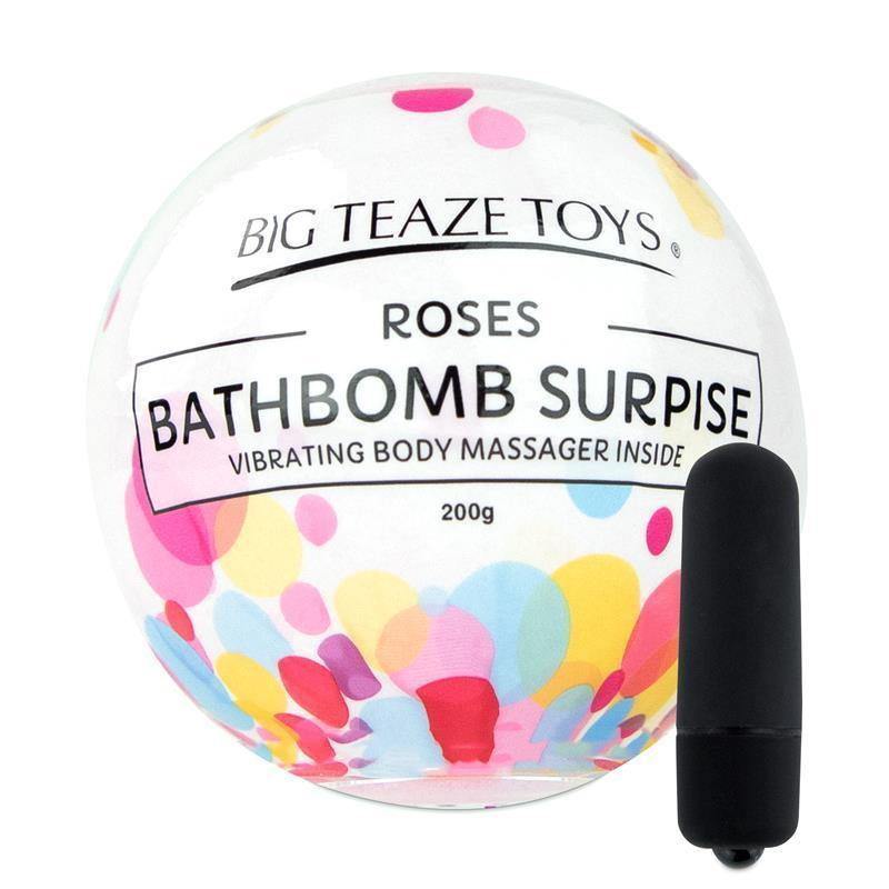 Bombe de bain Surprise Rose & Vibrant Body Massager - Plaisirs Pour Elles