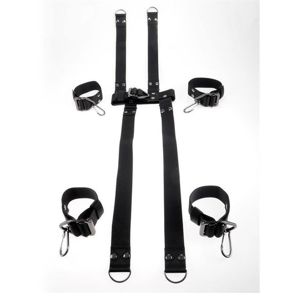 Kit de bondage - COMMAND par Sir Richards - Hogtie & Collar Set - Plaisirs Pour Elles