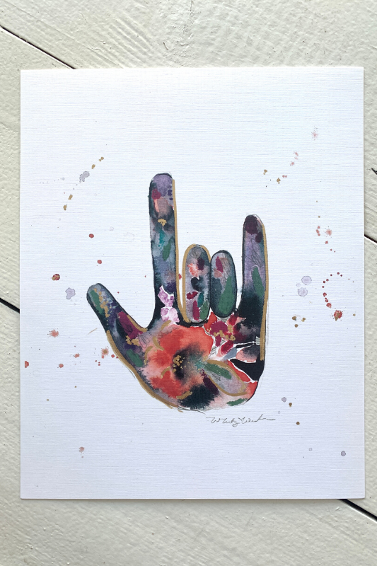 """Love You"" Print by Whitney Winkler"