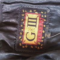 Vintage - G III Black Leather Midi Jacket