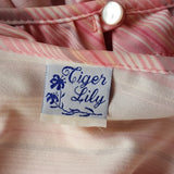 Tiger Lily - Vintage Pink Striped Blouse