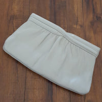 Ande - Vintage Gray Leather Clutch/Crossbody
