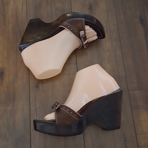 Steve Madden - 1990's Bianka Brown & Pink Wedges