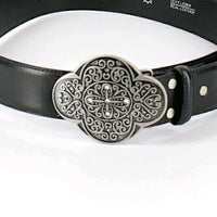 Vintage - Echt Leader Silver Buckle Belt