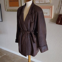 Leather Work - Vintage 1980's Brown Leather Jacket