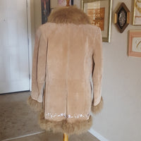 Vintage - NY Collection Suede Fur Trim Jacket