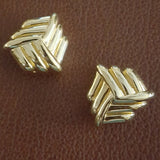 St. John - Vintage Gold Grooved Earrings